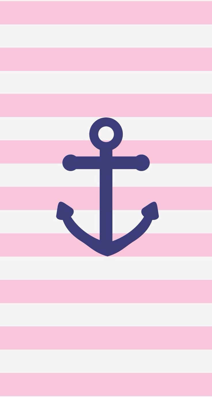 Pink navy anchor iphone phone wallpaper background lock screen. By Flavia. Made…