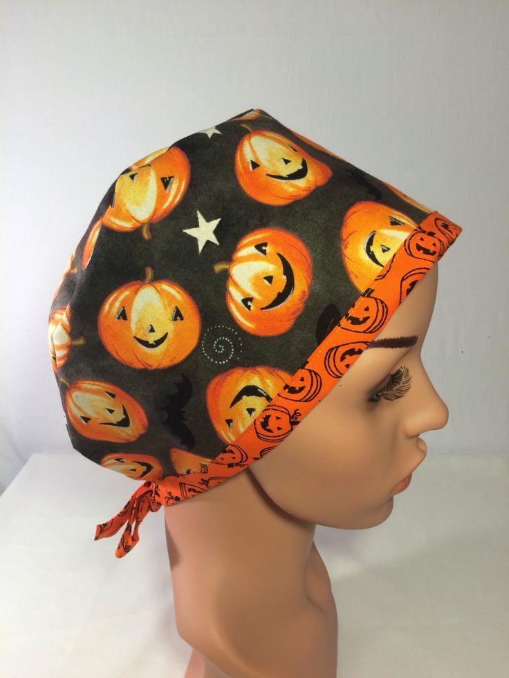Etsy shop https://www.etsy.com/listing/274247516/halloween-scrub-hat-nurse-cap-scrub-hat