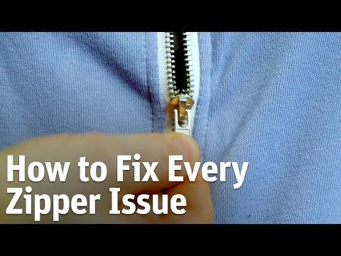 How to fix a broken zipper or separating zipper. I am tired of throwing away broken gear bags because i over stuffed them and broke the zipper. Follow the di...