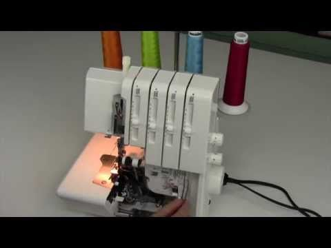 Bernina 800DL Serger 4 Threading - YouTube השחלת חוטים בברנינה 800 dl