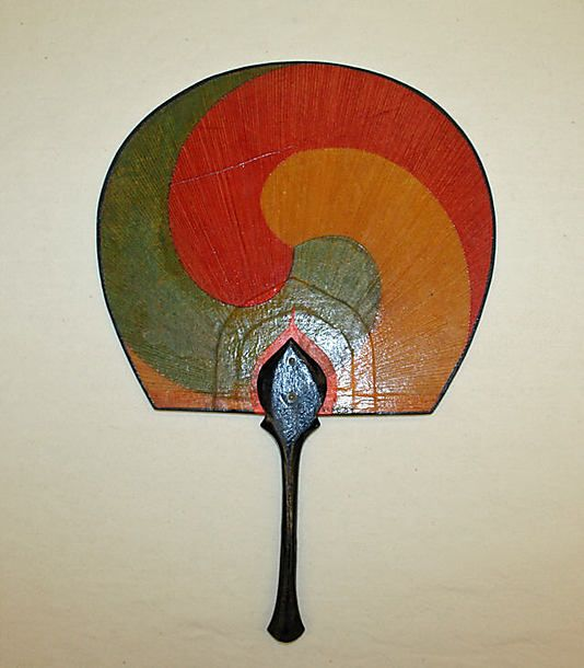 1800–1941 Japanese fan made of paper, bamboo, wood