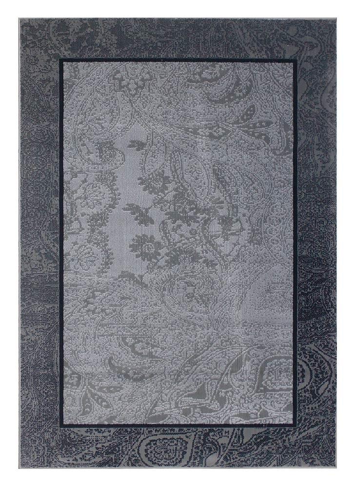 Best Black Grey Floral Border Rug Australian Rug Market 640 x 480