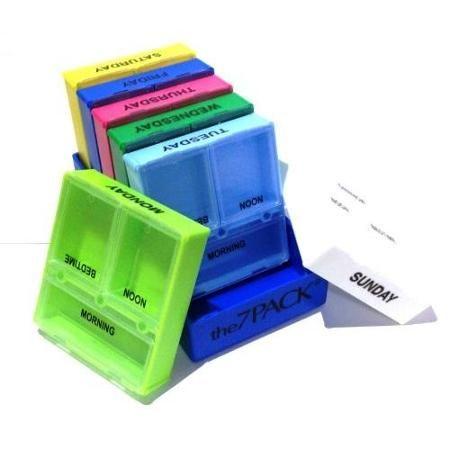 The 7 Pack - 7 Day 3 Compartment Pill Box Medicine Organizer