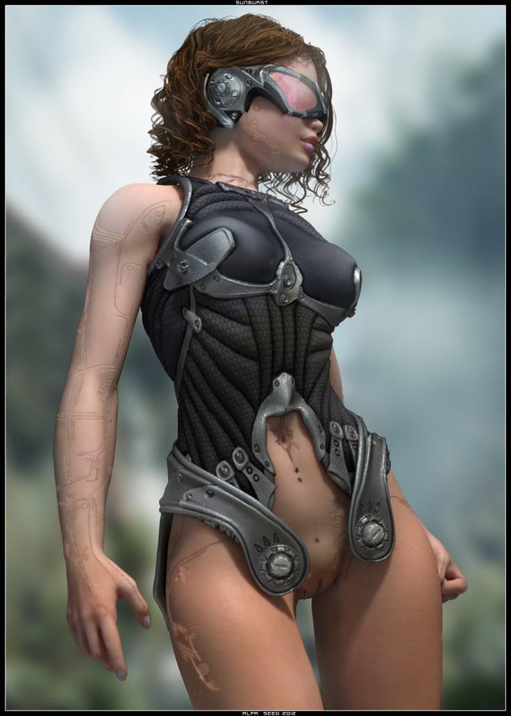 Breast naked sci fi women