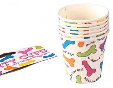 Cool off the hottest of Hens Parties by drinking from these fun Pecker Paper Cups. Each cup has cute coloured peckers printed on with risqué messages alongside. $5.95 www.peckaproducts.com.au