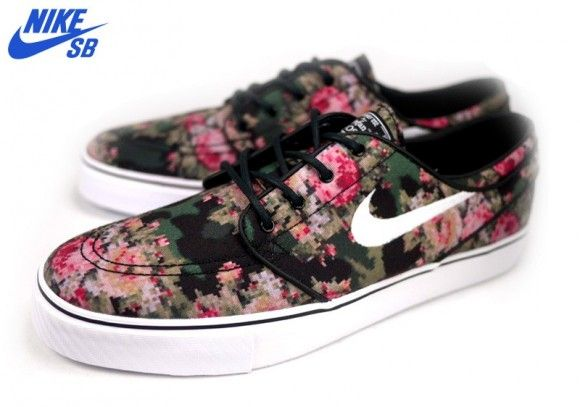 nike sb zoom stefan janoski digital floral sneakers. Black Bedroom Furniture Sets. Home Design Ideas