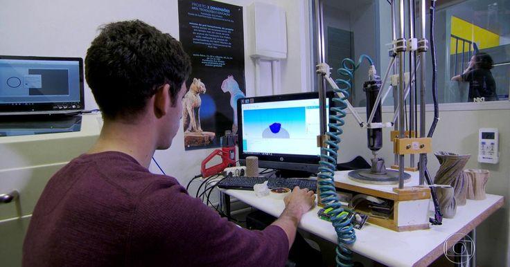 Série do JN sobre inovação mostra que futuro chegou e até já passou Repórter faz sua própria miniatura em impressora 3D. No parque tecnológico da UFRJ, a experiência da realidade aumentada.