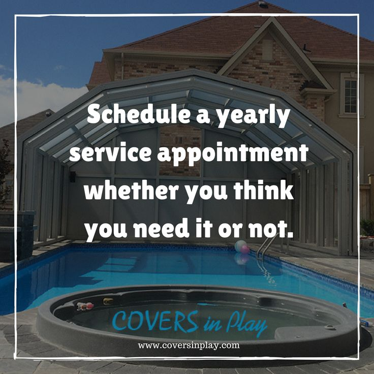 At least once a year, have a pool service professional come out to check your devices.http://www.coversinplay.com/  #PoolEnclosure #PoolCover #SwimmingSeason #IndoorPools #SwimmingPool #PoolTips