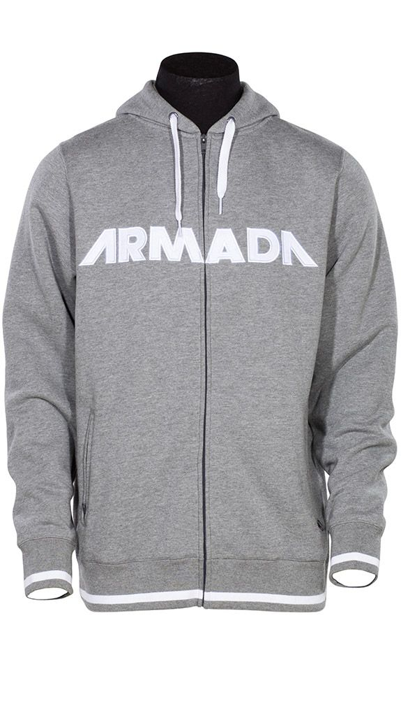 Represent Hoody - Heather Grey. Strong branding, thick fabric, and a full zip exterior, the Represent hoody is one of our favorites. It might be the basic design or the soft interior; but this hoody is an indispensable part of every athlete's ski bag. | ARMADA SKIS