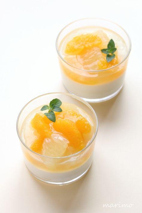 ★お菓子レシピ★ レモンムースとシトラスゼリー リクエストスイーツ(33) : marimo cafe
