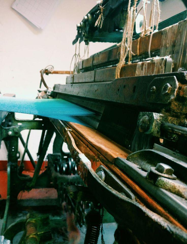 Hard at work | McKernan Woollen Mills | Handmade scarves | Made in Ireland | Irish Design | Weaving | Knitting Mens & Womens Accessories