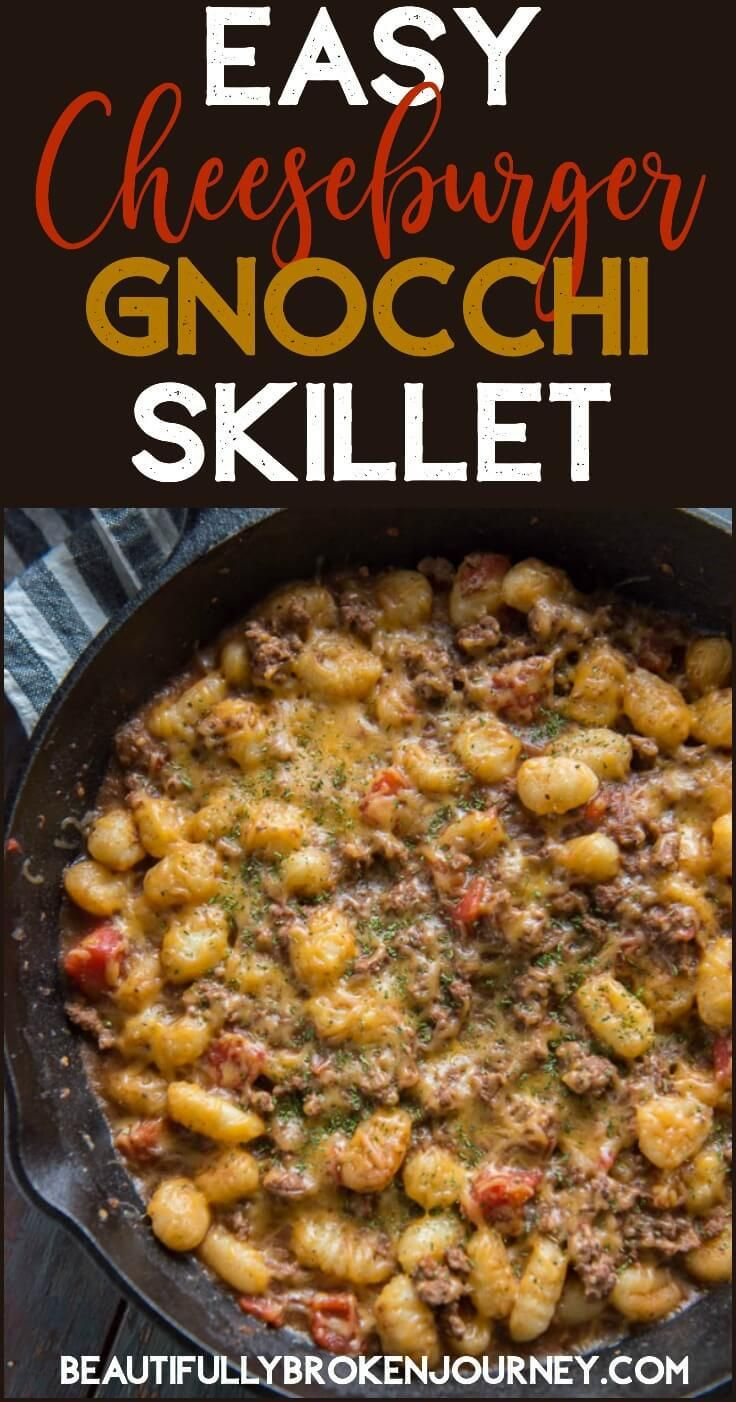 This easy and delicious cheeseburger gnocchi skillet is bursting with flavor!