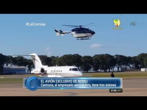 El avión casi exclusivo de Scioli