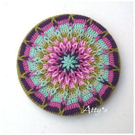 atty's: Crochet Mandala Pot Coaster Tutorial