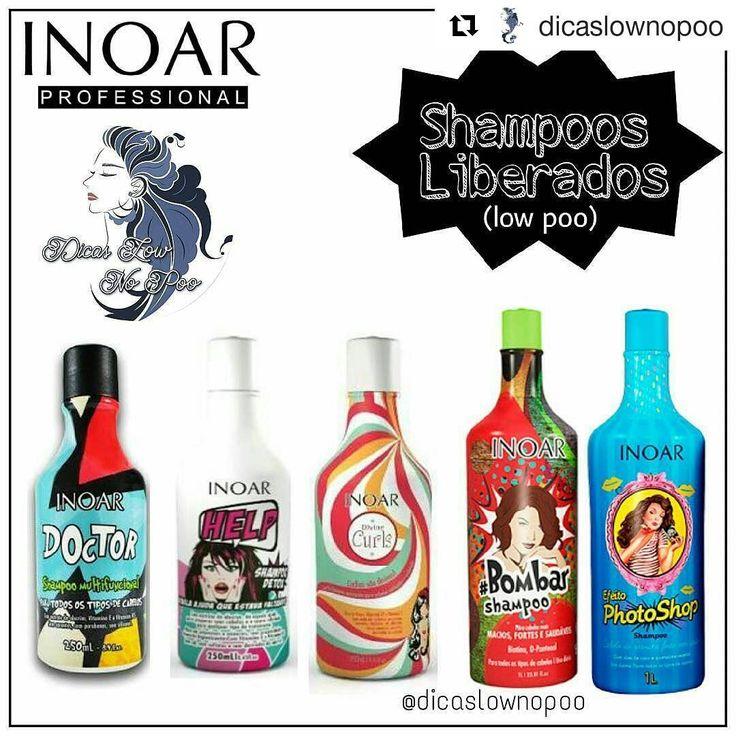 #Repost @dicaslownopoo with @repostapp ・・・ Shampoos liberados para Shampoo Leve (Low Poo) - Inoar: ㅤ Doctor: ㅤ  Shampoo Multifuncional da linha Inoar Doctor foi especialmente criado para sua rotina de cuidados com os cabelos. Ele limpa de verdade, tirando a oleosidade sem agredir e sem ressecar, pois é muito suave. ㅤ Help (Detox): ㅤ  O Shampoo Detox Help Inoar foi especialmente criado para preparar os cabelos e o couro cabeludo para os mais diversos tipos de tratamento. Ele limpa pra vale...