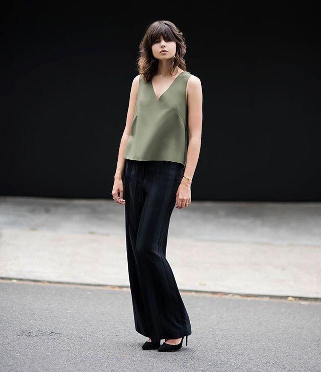 Sleeveless Dove blouse inspiration