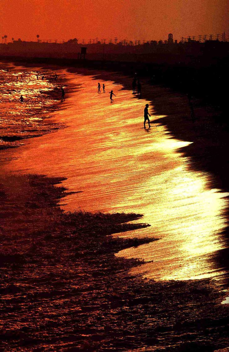 Beautiful ocean shot at sunset