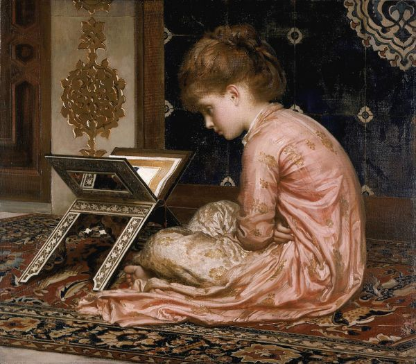 Lord Frederick Leighton, Study. At a Reading Desk (1877)