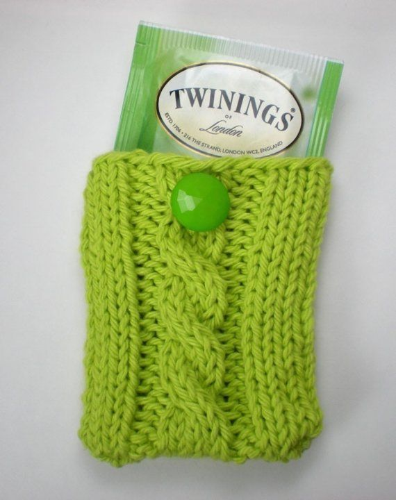 Knitting Bag Stand : Knitted tea bag holder knitting sewing crocheting