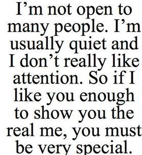 41 best make yourself happy images on pinterest factors goodies im not open to many people im usually quiet and i dont really like attention so if i like you enough to show you the real me you must be very special ccuart Images