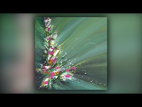 Abstract painting / Satisfaction / Acrylic colors / Palette knife / Demonstration # 064 – YouTube