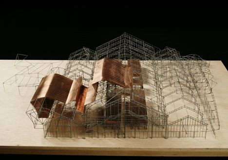 Lovely delicate model. I like the material palette and the way that the facade only partially covers the model. Barceloneta Market by Mias Architects. #architecture #model