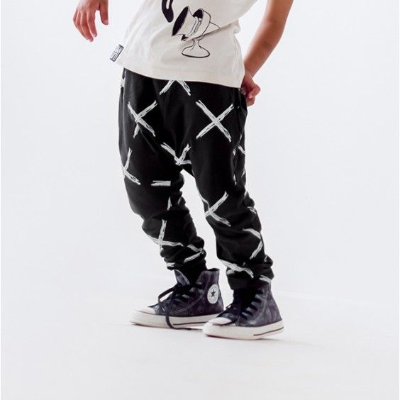 Bandit Kids X Marks the Spot Drop Crotch Pants - Faded Black