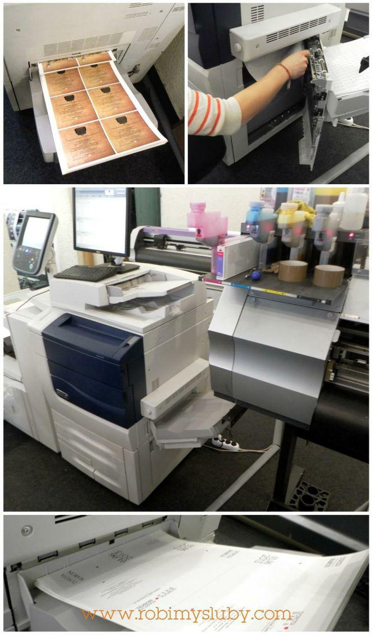 nasza praca to również wiele godzin spędzonych w ulubionej drukarni :) - czujna kontrola nad równością i kolorem druku!