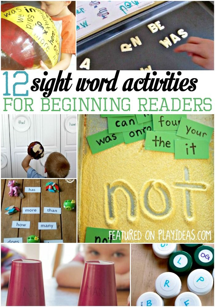 These sight word games and activities are a great way to teach your emerging readers their sight words in a super fun way.