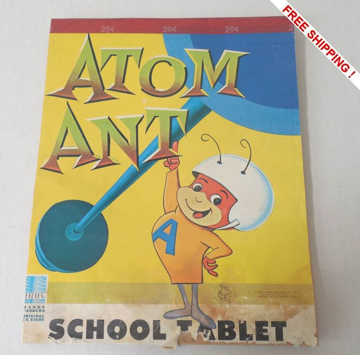 Vintage ATOM ANT School Tablet 1966 by VintageSistersx2 on Etsy