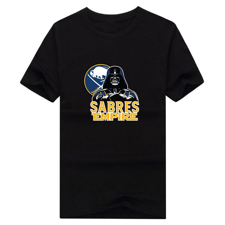 2017 New 100% Cotton Sabres Empire T-shirt Star Wars Darth Vader Buffalo T Shirt 0105-12 #Affiliate