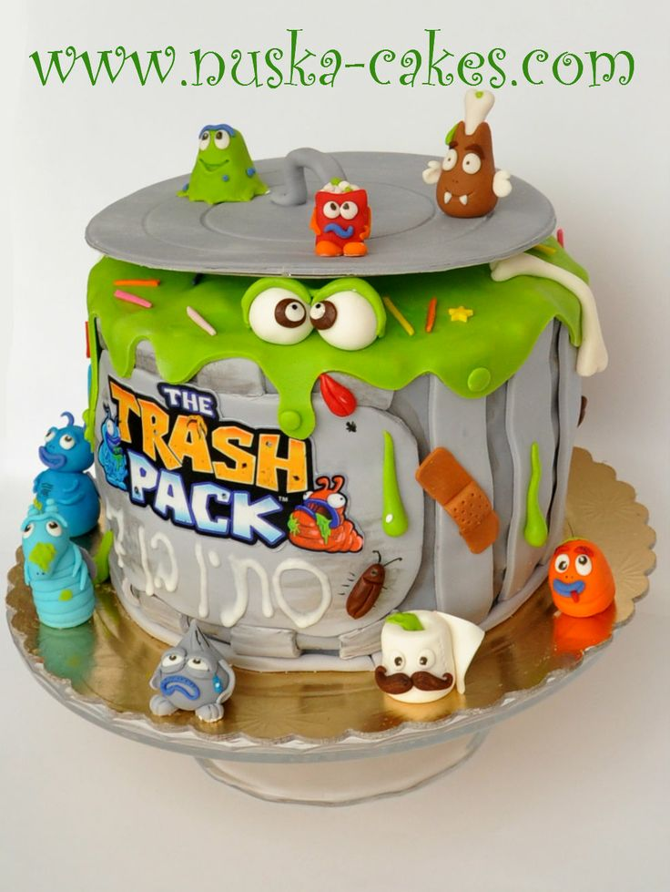The Trash Pack birthday cake