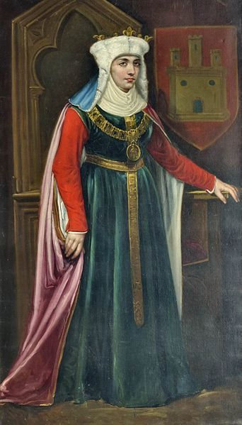 Berenguela I (c. 1179-1246), Queen of Castile (1217) in her own right. She was the daughter of King Alfonso VIII and his wife, Eleanor of England. She was Queen of León (1197-1204) as the wife of King Alfonso IX. Her surviving children were King Fernando III of Castile-León, The Infante Alfonso, and The Infantas Berenguela and Constanza.
