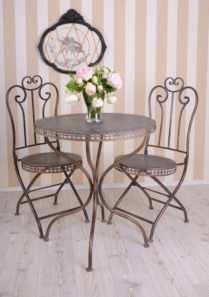 Tavolo in ferro e metallo VINTAGE da giardino