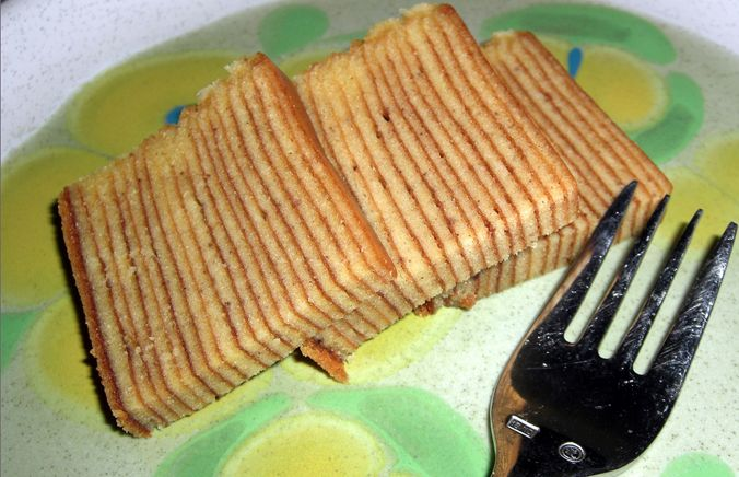"""Indonesian Spice Layer Cake (Spekkoek) 