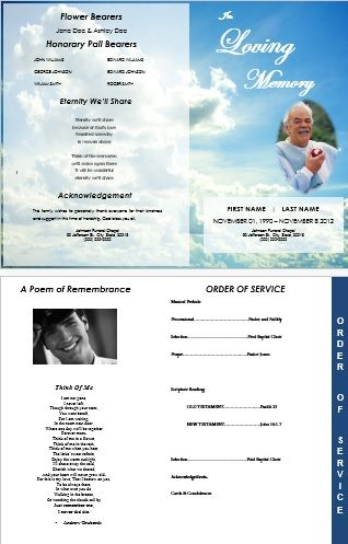 9 Best Funeral Programs Images On Pinterest | Memorial Services