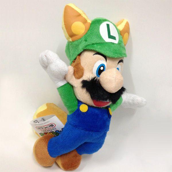 "New Super Mario Bros. Plush Raccoon Luigi Soft Toy Culddy Stuffed Animal Doll 8"" #SuperMario"