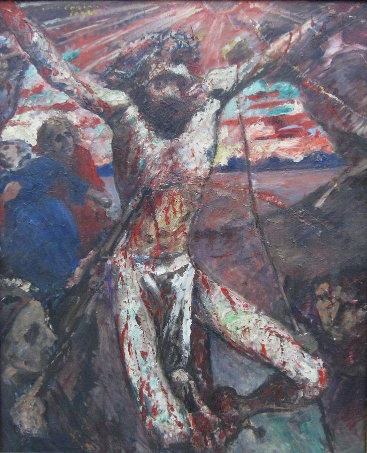 Corinth, Lovis, Der rote Christus, 1922, m d'a mod, munich, wikipedia
