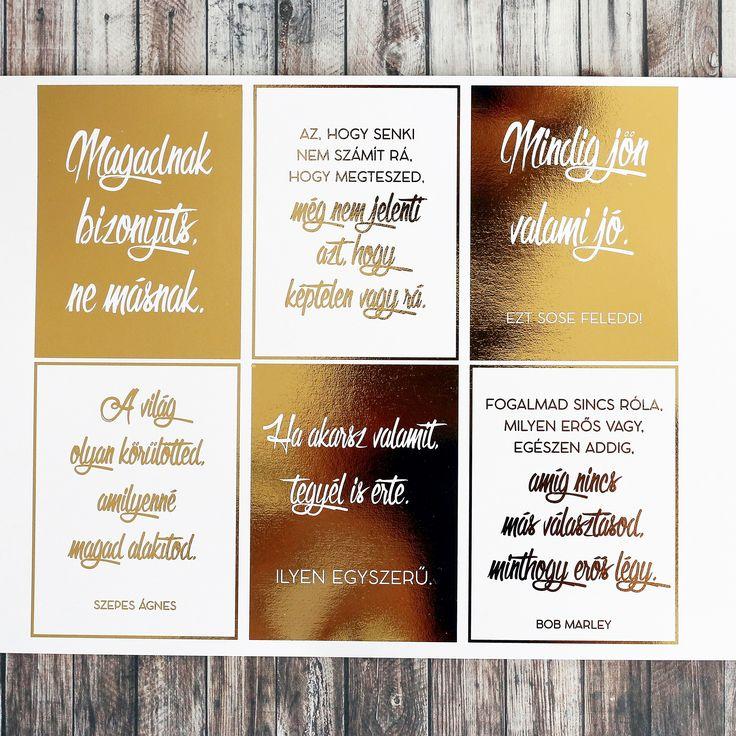 NőiCsizma | Aranyfóliás Örök igazságok kártyacsomag