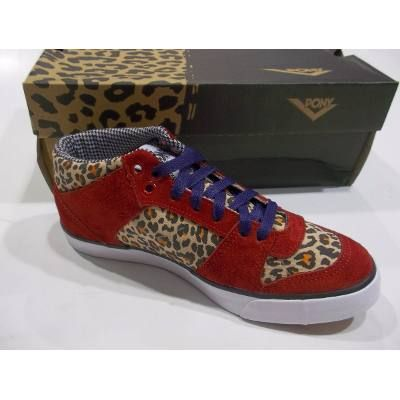 Zapatilla Pony Willy Smu Leopardo Y Gamuza Roja Ideal Jeans - $ 799,99 en Mercado Libre