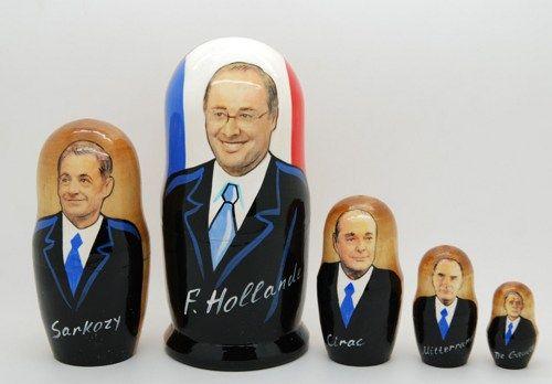 Matryoshka nesting doll French politicians | ArtMatryoshka - Toys & Hobbies on ArtFire
