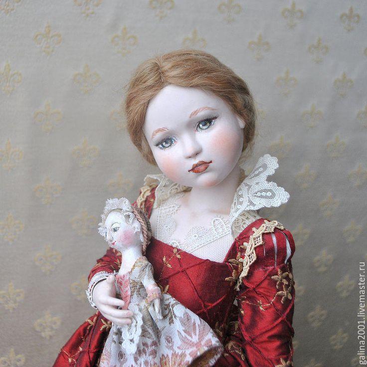 Купить Венецианская девочка - красный, кукла, интерьерная кукла, девочка, венеция, фарфор, фарфоровая кукла