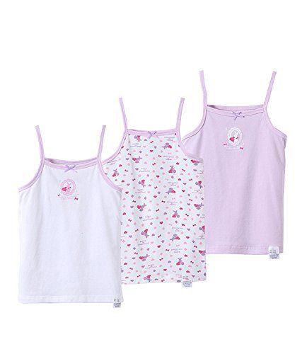 93b5fe7cc BAIYIXIN Girls' Lovely Cartoon Pajamas Set Summer Cotton Undershitrs 3-Pack