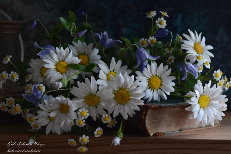 Цветы из полимерной глины .Ромашки .