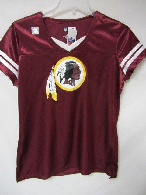 Washington Redskins Womens X-Large Short Sleeve Screened Jersey Shirt AA  3586 #WashingtonRedskins