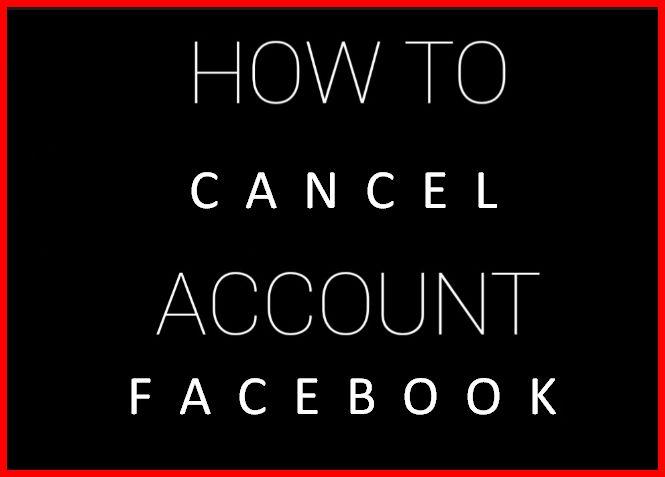 Facebook Cancel Account