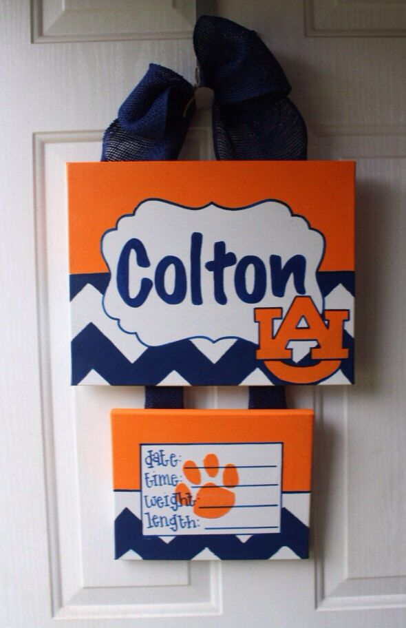 baby hospital door decorations, Hospital door hanger, hospital door wreath, auburn alabama door hanger by Doodles4you on Etsy https://www.etsy.com/listing/196262713/baby-hospital-door-decorations-hospital