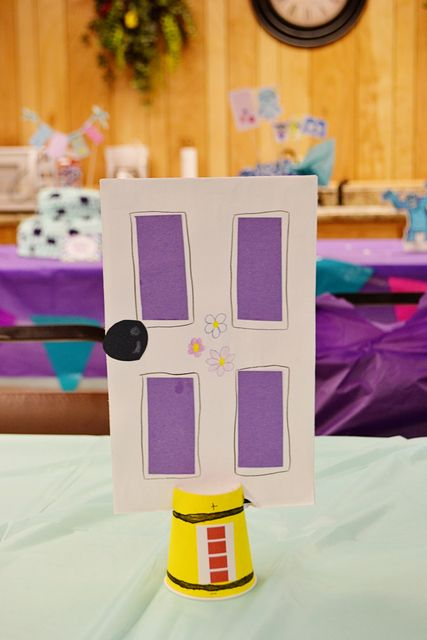 Monster Inc Door and Scream canister table center piece