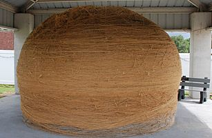 Worlds largest Ball of Twine, Kansas (But thanks to Weird Al, I MOSTLY want to see the biggest ball of twine in Minnesota!)