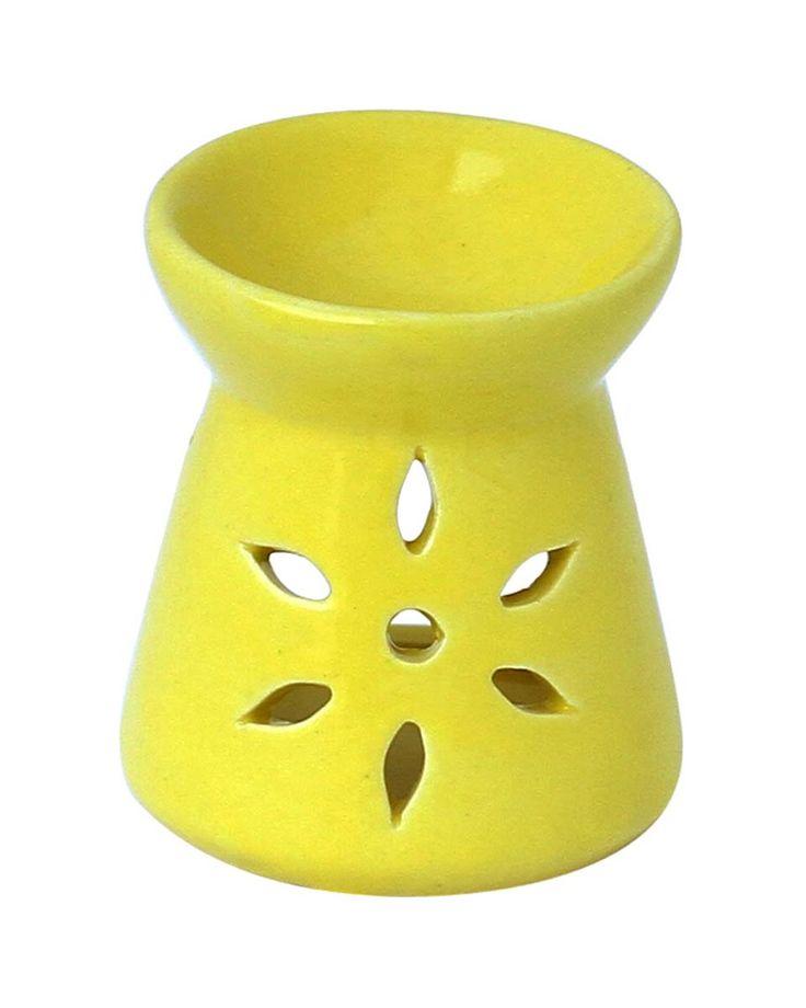 Wholesale Essential Oil Diffuser - Bulk Buy Neon Yellow Ceramic Aromatherapy Wax Melt / Tart Warmer – Essential Fragrance Accessories